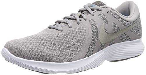 Nike Revolution 4 EU', Chaussures de Running Homme, Gris (Atmosphere Grey/MTLC Pewter/Thunder Grey/Lt Current Blue/White), 43 EU