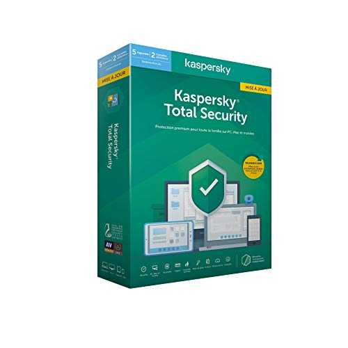 Kaspersky Total Security 2020 Mise à jour (5 Postes / 1 An)|Total Security|5 appareils|1 An|PC/MAC/Android|Telechargement