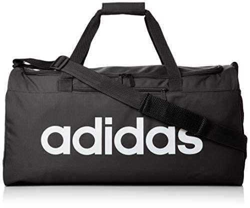 adidas Lin Core DUF M Sac de gym Mixte Adulte, Black/Black/White, 55 cm