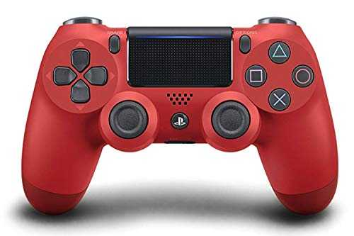 Sony Manette PlayStation 4 Officielle, DUALSHOCK 4, Sans Fil, Batterie Rechargeable, Bluetooth, Rouge
