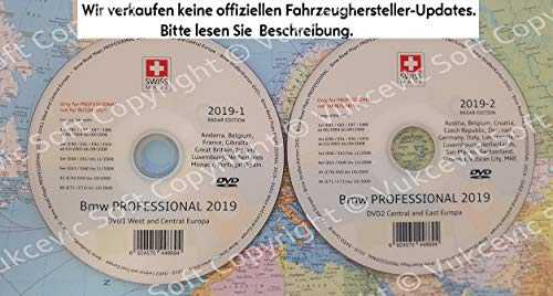 2019 B M W Professional CCC Update DVD1   DVD2 Flash Edition