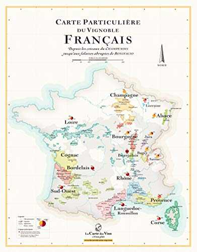 Carte des Vins de France (50 x 70 cm)