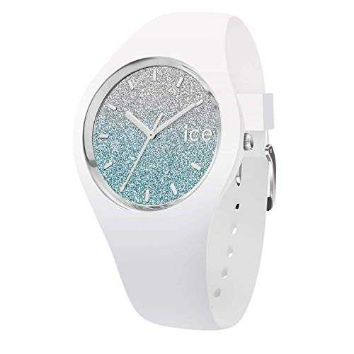 Ice-Watch - Ice lo White Blue - Montre Blanche pour Femme avec Bracelet en Silicone - 013425 (Small)