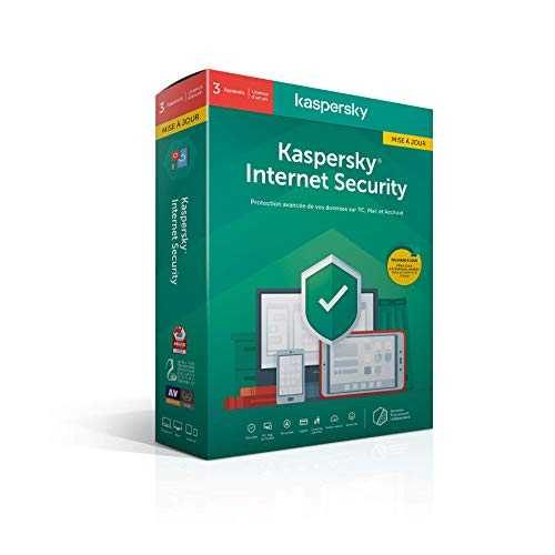 Kaspersky Internet Security 2020 Mise à jour (3 Postes / 1 An)|Internet Security|3 appareils|1 An|PC/MAC/Android|Telechargement