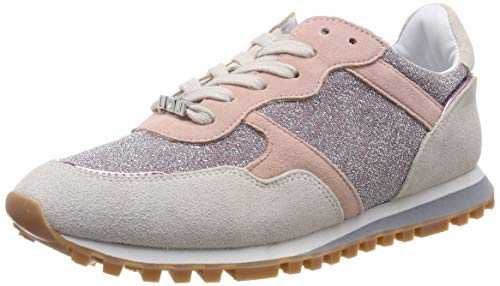 Liu Jo Shoes Alexa-Running, Sneakers Basses Femme, Multicolore (White/Pink S1006), 38 EU