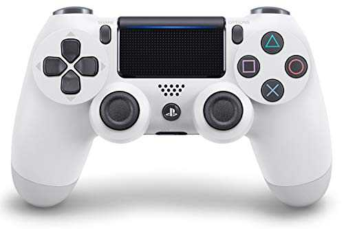 Sony Manette PlayStation 4 Officielle, DUALSHOCK 4, Sans Fil, Batterie Rechargeable, Bluetooth,Glacier White (Blanche)
