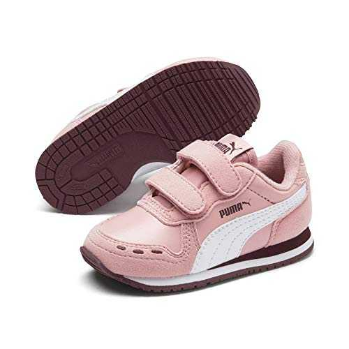 Puma Cabana Racer SL V Inf, Baskets Mixte Enfant,Rose (Bridal Rose-Puma White-Vineyard Wine 79) , 27 EU