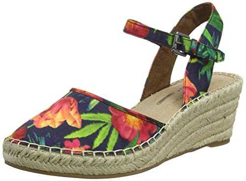 Rockport Marah 2 Piece Closed Espadrille Wedge, Femme, Multicolore (Rainbow Floral 001), 37.5 EU