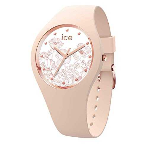 Ice-Watch - Ice Flower Spring Nude - Montre Rose pour Femme avec Bracelet en Silicone - 016670 (Medium)