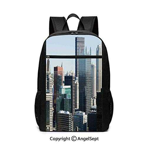 American Architecture Pittsburgh PA Skyline Pennsylvania Modern Cityscape School Backpack
