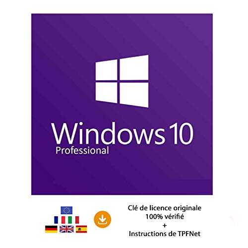 Windows 10 Pro 32 Bits & 64 Bits - Clé de Licence Originale par Postale et E-Mail   Instructions de TPFNet® - Livraison Maximum 60min