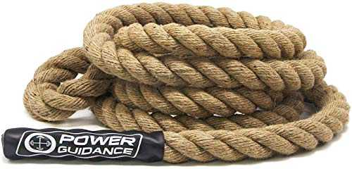 POWER GUIDANCE Corde à Grimper, Climbing Rope, pour Training de Musculation Diamètre 38mm(6M)