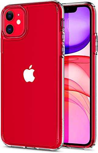 Spigen Coque iPhone 11 [Ultra Hybrid] Bumper en TPU Souple, Dos en PC Rigide et Transparent, Protection - [Air Cushion] Coque Compatible avec iPhone 11 (2019)