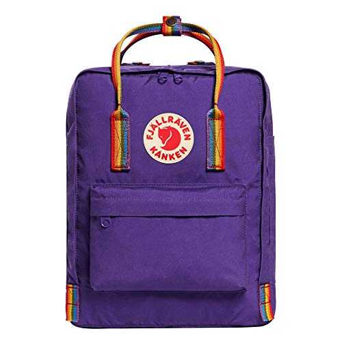 FJÄLLRÄVEN Kånken Sac à Dos Mixte Adulte, Violet (Purple-Rainbow Pattern), 38 Centimeters