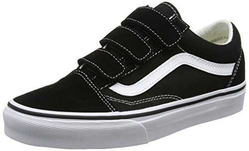 Vans Old Skool V, Chaussures de Running Mixte Adulte, Noir (Black/True Whitesuede/Canvas), 35 EU