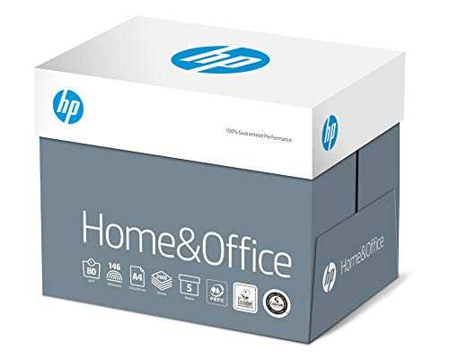 HP Home and Office - Papier Multifonction Blanc 80 g/m² A4 - Carton de 5 x 500 Feuilles
