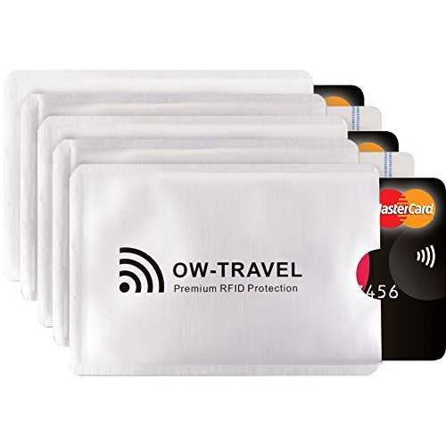 ✅ Etui Carte Bancaire Anti Piratage - Anti RFID Anti FRAUDE - Protection Carte Bancaire, Carte Bleue sans Contact - Protege Carte Bancaire (RFID Pochette Protection Porte Carte 5)