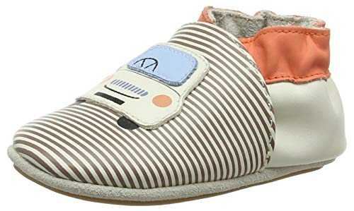 Robeez Tony, Chaussons Mixte bébé, (Blanc Casse Orange 31), 19 EU