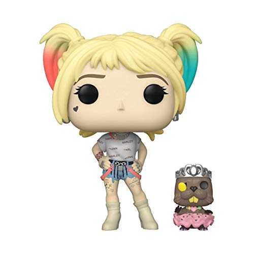 Funko- Pop Heroes: Birds of Prey-Harley Quinn w/Beaver Collectible Figure, 44378, Multicolour
