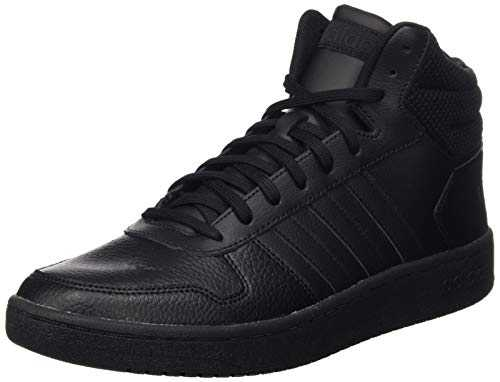 adidas Hoops 2.0 Mid, Chaussures de Basketball homme - Noir (Core Black/Core Black/Core Black Core Black/Core Black/Core Black), 42 2/3 EU (8.5 UK)