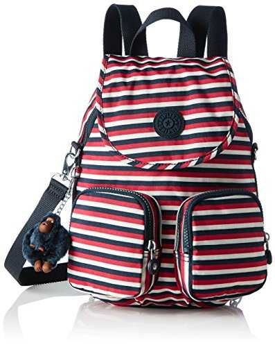Kipling Firefly Up, Sacs à dos femme, Multicolour (Sugar Stripes), 22x31x14 cm (W x H x L)