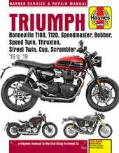 Haynes Triumph Bonneville T100, T120, Speedmaster, Bobber, Speed Twin, Thruxton, Street Twin, Cup, Scrambler '16 to '19 Service & Repair Manual: Water-Cooled Twins