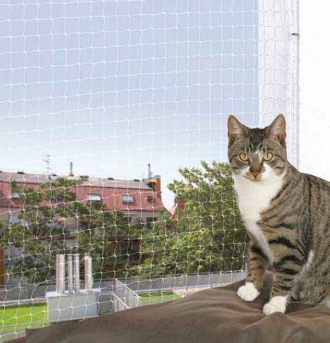 Trixie Filet de Protection Transparent pour Chat, 4 × 3 m