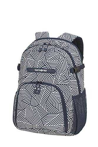Samsonite Rewind Sac à Dos Ordinateur Portable M, 44 cm, 23 L, Bleu (Navy Blue Stripes)