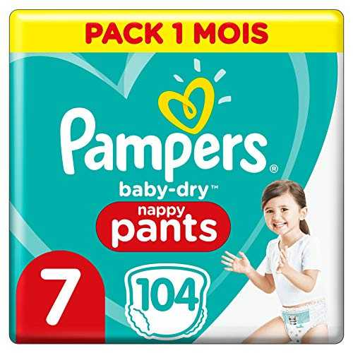 Pampers Baby-Dry Pants Couche-Culotte Faciles à Enfiler Pack 1 Mois Taille 7