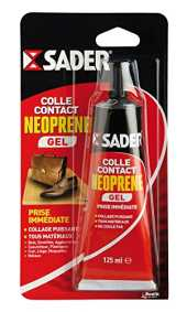 Sader Colle Contact néoprène gel, Tube 125 ml