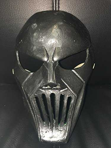 WRESTLING MASKS UK Deluxe en fibre de verre Noir Mick Thomson Masque W. Sangle réglable pour s'adapter à n'importe quelle Taille