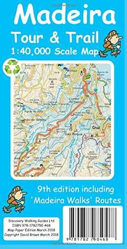 Madeira Tour & Trail Paper Map