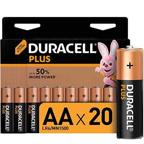 Duracell Plus, lot de 20 piles alcalines Type AA 1,5 Volts LR6 MX1500