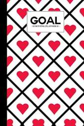 "Goal Setting Planner: Premium Hearts Cover Goal Setting Planner, Daily Goal Setting Planner Gratitude Journal Notebook Diary Log Book Organizer | To Do Today Checklist | 120 pages, Size 6"" x 9"""
