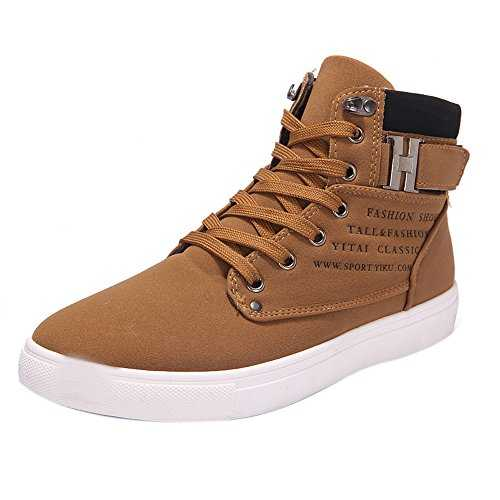 MERICAL Mode Hommes Oxford Casual Haut Haut Chaussures Chaussures Baskets Chaussures(42,Kaki)