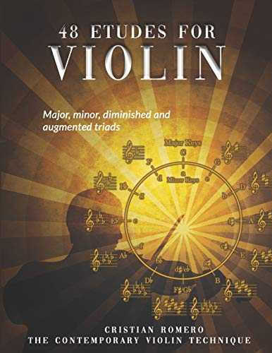 48 Etudes for Violin: Major, minor, diminished and augmented triads