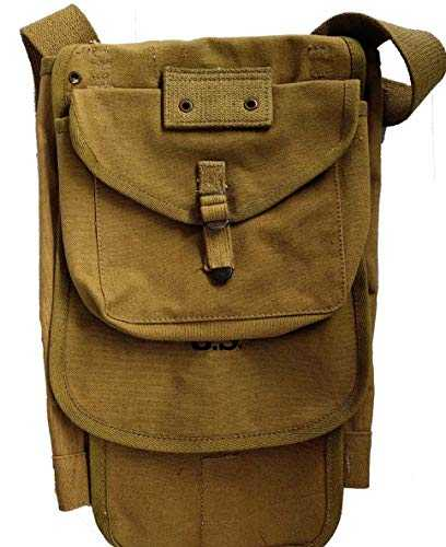 "World War Replica- WWII US M1928 Haversack Backpack WW2-with Shoulder Strap Khaki Canvas-ww2 Backpack American ""Marked"" 1943"