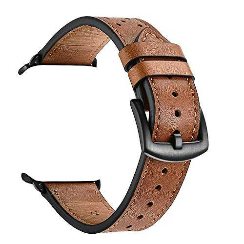 Zeiger Bracelet Cuir pour Apple Watch 42mm 44mm Marron Série 1 2 3 4 Compatible Cuir Véritable Style à Point Polka Noir Verrouillage Amélioré Remplacement Boucle Ardillon Acier Inoxydable