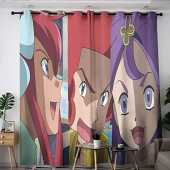 Elliot Dorothy Pokemon Pikachu Anime Comic Cartoon Thermal Insulated Curtains Treatment Curtains Blackout Window Curtain for Bedroom Living Room Kitchen W55 x L45