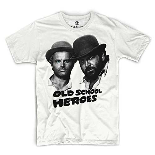 Bud Spencer Official - T-Shirt - Homme Blanc Blanc - Blanc - Medium