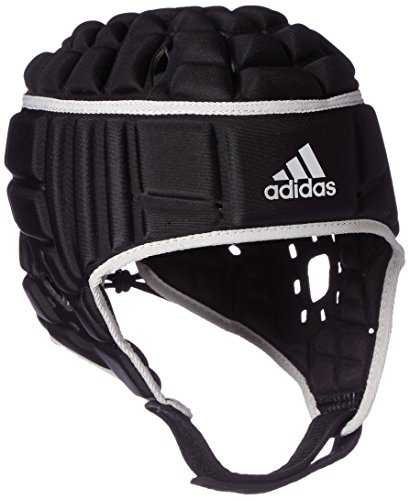 Adidas HEADGUARD Casque de rugby Homme, Black/Matte Silver, FR : S (Taille Fabricant : S)