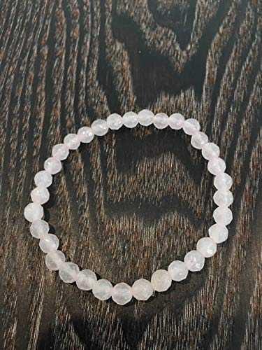LOVEKUSH Beautiful AAA++ Quality 6mm Facet Rose Quartz Stretch Healing Bracelet