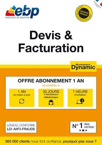EBP Devis & Facturation DYNAMIC 12 mois + VIP - 2018 [PC Download]