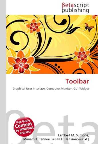 Toolbar: Graphical User Interface, Computer Monitor, GUI Widget