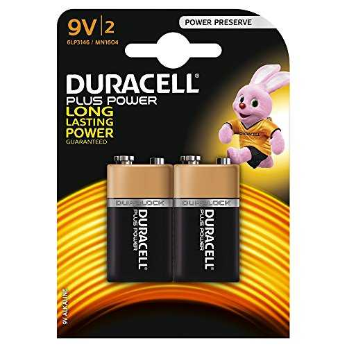 Duracell Plus Power Piles Alcalines type 9V, Lot de 2
