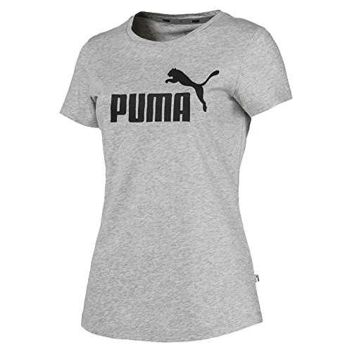 Puma ESS Logo Tee T-Shirt Femme, Gris (Light Gray Heather), M