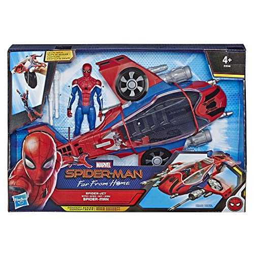 Marvel Spider-Man Far From Home – Véhicule Spiderjet et figurine - Jouet Spider-Man