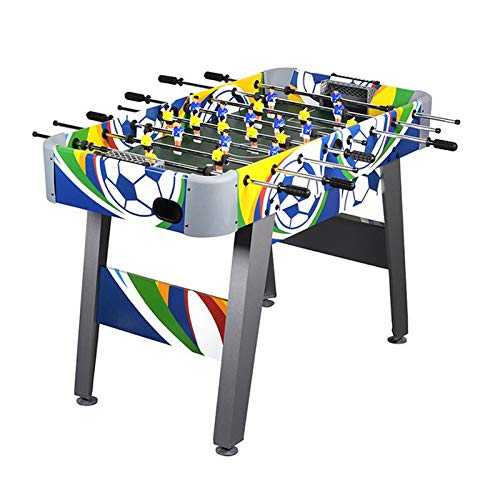 Win.max Football Table 4ft Coloré Football Foosball Jeu MDF Construction Compétition Taille Arcade Sports Fun Heavy Duty Indoor Pub Room Jeu