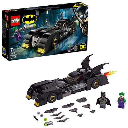 LEGO- Batmobile La Poursuite du Joker, Voiture de Batman avec 2 Figurines Super Heroes Jouet DC Comics Enfant, 76119, Multicolore