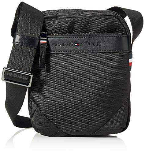 Tommy Hilfiger Elevated Nylon Mini Reporter, Sacs portés épaule homme, Noir (Black),